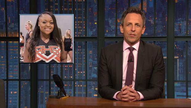[NATL] 'Late Night' Story We Need: Cheerleader Saves Choking Baby