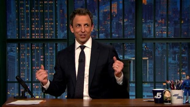[NATL] 'Late Night:' Seth Meyers Describes Birth of Son