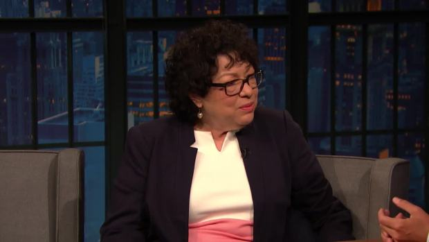 [NATL]'Late Night': Justice Sotomayor Shares Ruth Bader Ginsburg's Nickname