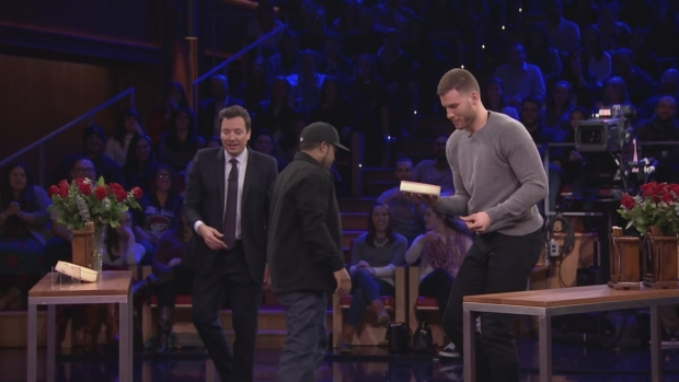 [NATL] 'Tonight Show': Random Object Shootout With Ice Cube and Blake Griffin