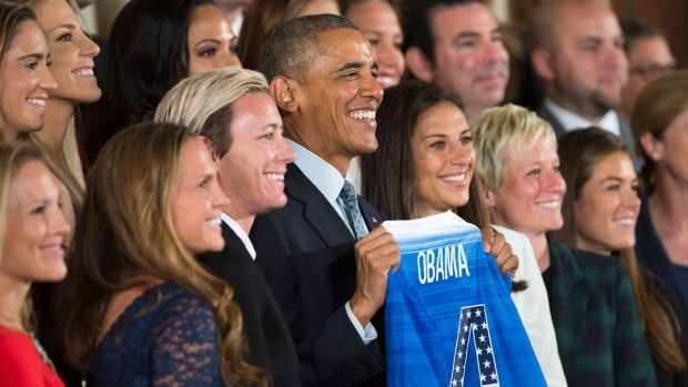Obama Honors U.S. Women's Soccer at White House