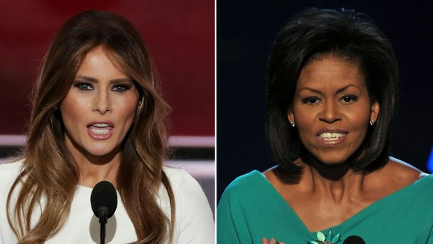 Back-To-Back Speeches: Melania Trump and Michelle Obama