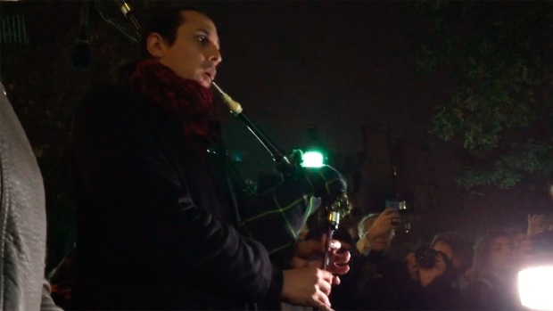[NATL] WATCH: 'Amazing Grace' Bagpipe Tribute at Paris Terror Site