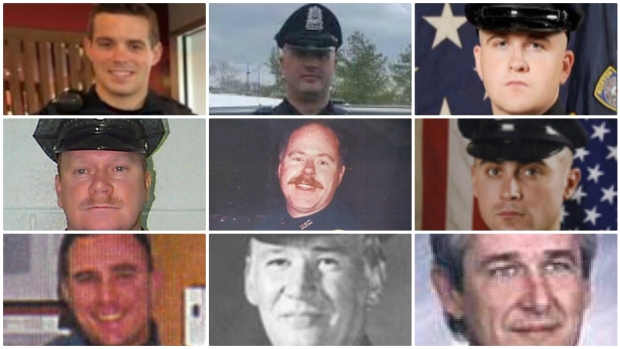 Mass. Police Officers Killed by Gunfire in Last 20 Years