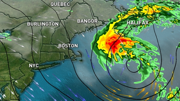 TIMELINE: Hurricane's Remains Expected to Bring Downpours