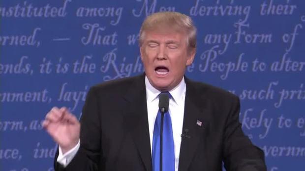 [NATL] Presidential Debate: Trump on Releasing His Taxes