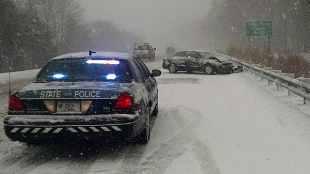 Storm Causes Crashes, Downed Trees Across Mass.