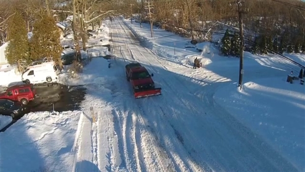 Check Out Long Island's Snowfall Via Drone
