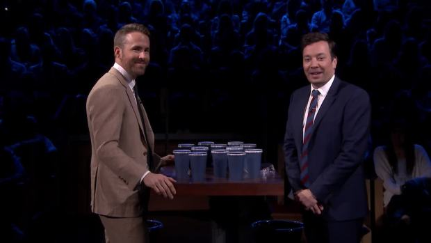 [NATL] 'Tonight': Spit Take Roulette With Ryan Reynolds