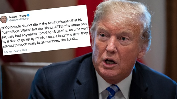 Trump Denies Puerto Rico Death Toll From Hurricane Maria