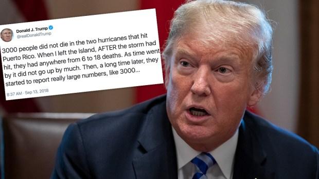 [NATL] Trump Denies Puerto Rico Death Toll From Hurricane Maria