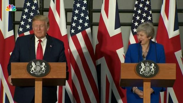 [NATL] Full Press Conference: Donald Trump and Theresa May
