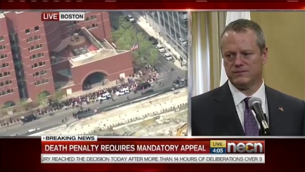 [NATL] WATCH: Gov. Charlie Baker Reacts to Tsarnaev Verdict