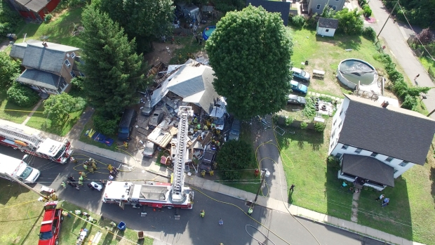 Vernon Home Explodes, Collapses