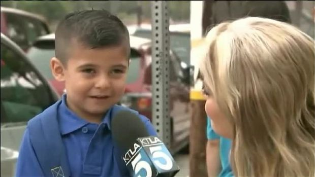 Reporter Makes Boy Cry at School