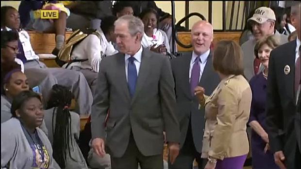Bush Returns to New Orleans for Katrina Anniversary