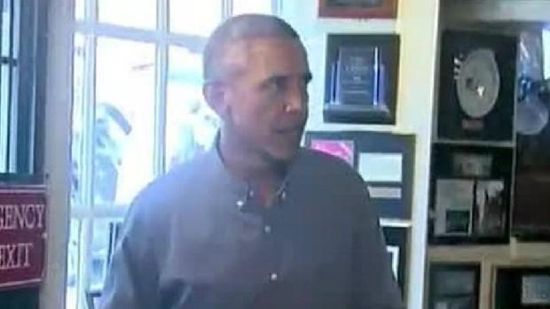 Obama Visits Boston's Union Oyster House