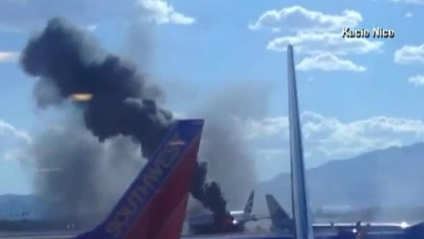 Jet Catches Fire While Getting Ready to Leave Las Vegas