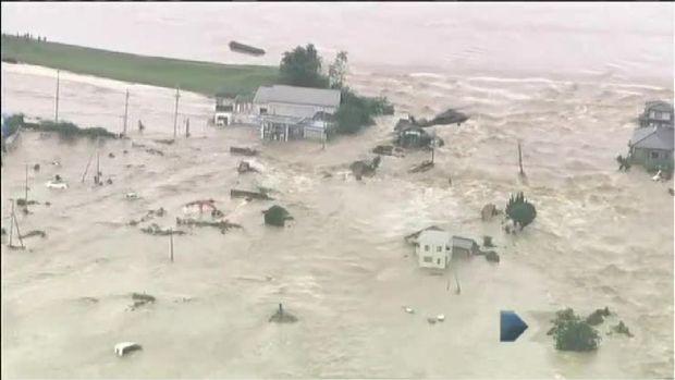Raging Floods Swamp Japan