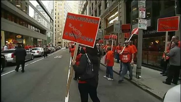 MBTA Workers Hit the Streets to Protest