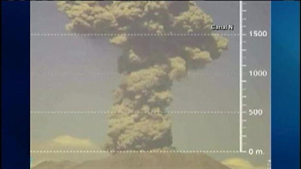BOOM! Volcano Erupts Sending Ash Cloud Into Air