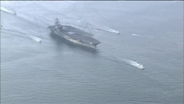 USS Ronald Reagan Arrives in Japan