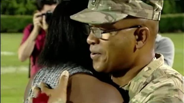 Teen Reunites With Army Sergeant Father
