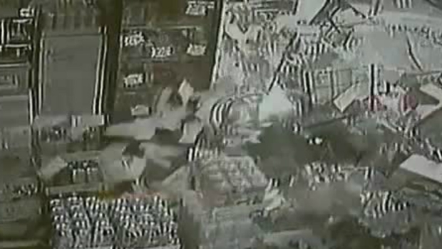 Car Crashes Into Liquor Store