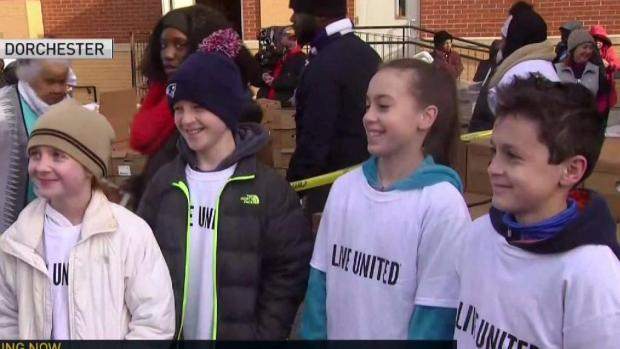 [NECN] Hundreds of Volunteers Helping with Annual United Way Thanksgiving Project