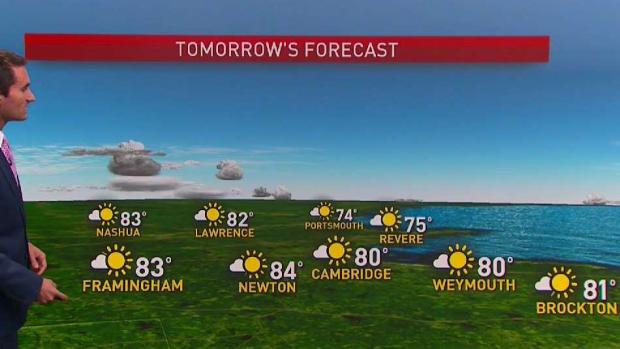[NECN] Skies Clear Overnight for Sunny Monday