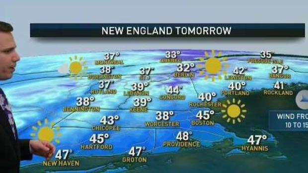 [NECN] Sunny, Chilly Monday Ahead; Temps Increase Tuesday