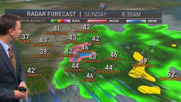 [NECN] Cool Sunday With Snow Possible