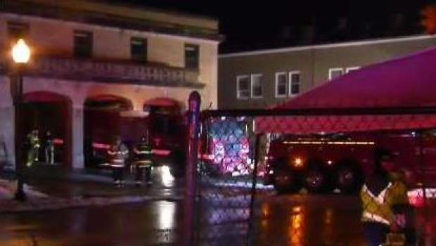 [NECN] Fire Dept. Truck Ignites Inside Mansfield Fire Station