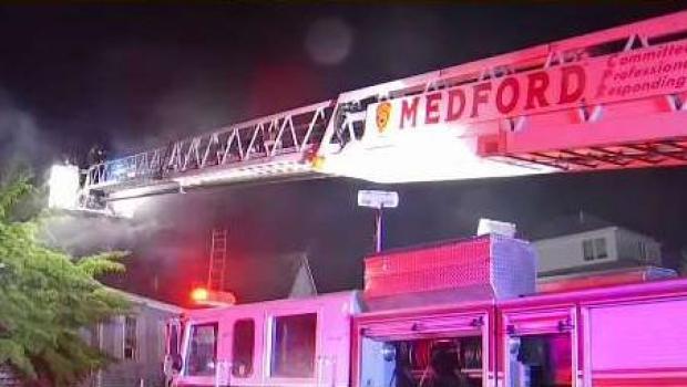 [NECN] Lightning Suspected Cause of Medford House Fire