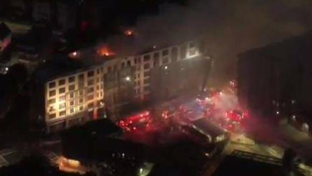 [NECN] Neighbors React to Massive Dorchester Blaze