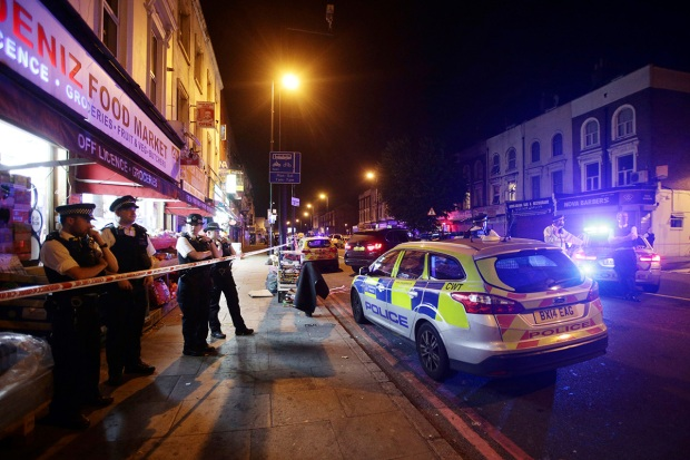 Photos: Police Respond After Van Runs Over Crowd in London