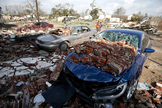 Extreme Weather Tornado Rips Through the South