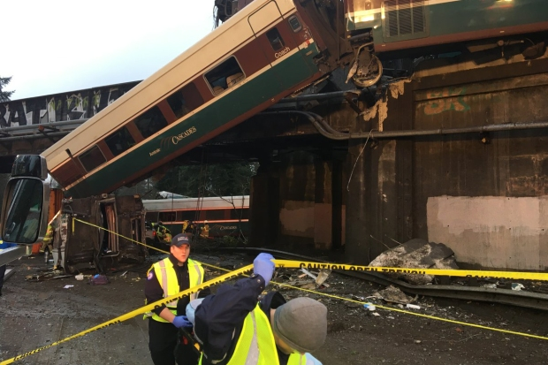 [NATL] Amtrak Derails Onto Highway South of Seattle