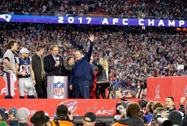 Scenes From the Patriots' Comeback AFC Championship Win