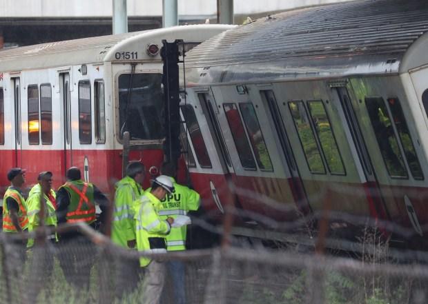 MBTA Red Line Train Derails in Dorchester