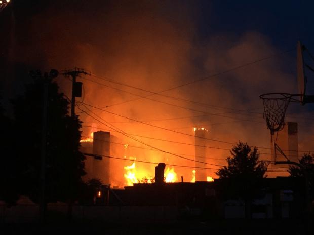 Massive Fire Engulfs Waltham Construction Site