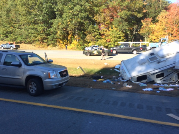 1 Dead, 1 Injured in Camper Crash on I-95 in N H  - NECN