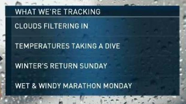 [NECN] Weather Forecast: Clouds Filter in as Temperatures Take a Dive