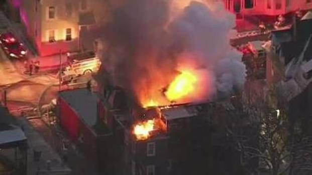 [NECN] 15 Displaced When Fire Tears Through Worcester Building