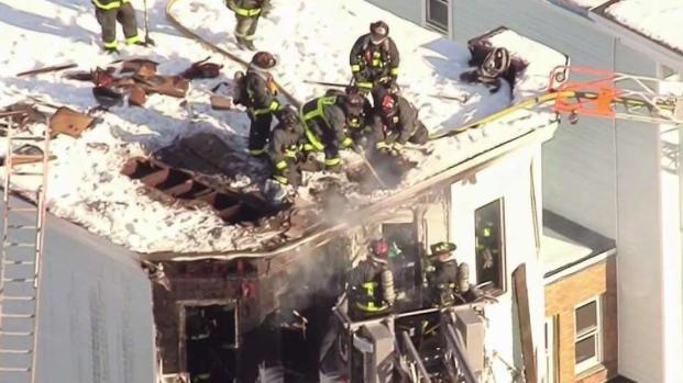 [NECN] 1 Firefighter, 1 Resident Injured in Dorchester Fire