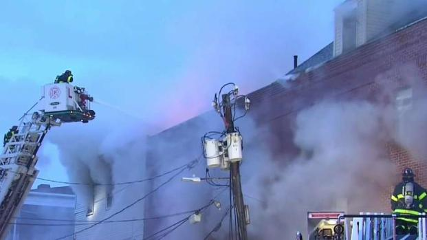 [NECN] 4-Alarm Cambridge Fire Under Investigation in Cambridge
