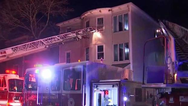 [NECN] 7 Rescued, 7 Hospitalized After Worcester Fire