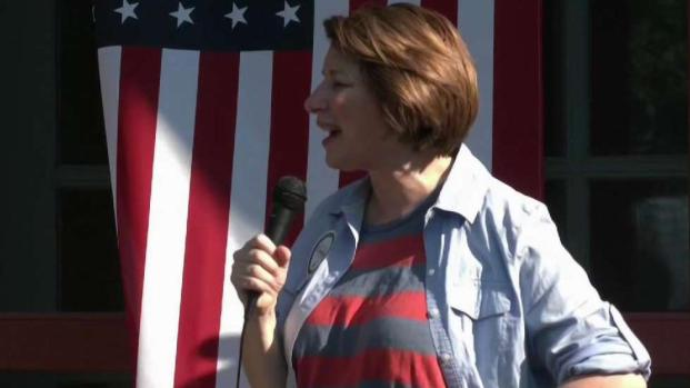 [NECN] Amy Klobuchar Campaigns in New Hampshire