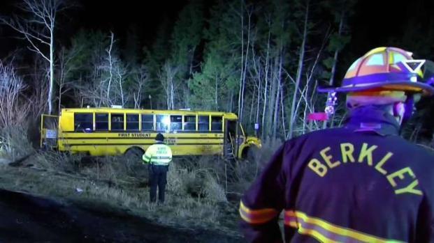 [NECN] Arrest Made After School Bus Crashes in Berkley