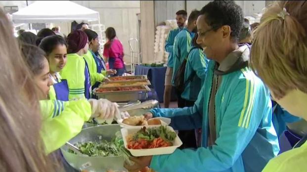 [NECN] Boston Marathon Runners Enjoy Annual Pasta Dinner
